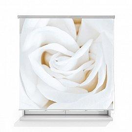 "Рулонная штора ролло термоблэкаут ""Роза белая"", 120 см"