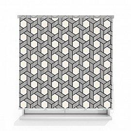 """Рулонная штора ролло лен """"Графичный орнамент"""", 140 см"""