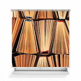 "Рулонная штора ролло лен ""Книги"", 140 см"