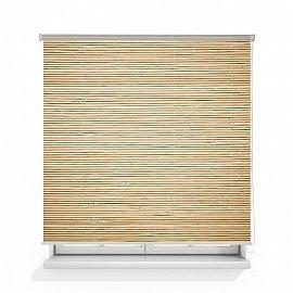 "Рулонная штора ролло термоблэкаут ""Сухой бамбук"", 140 см"