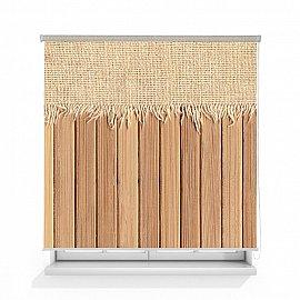 """Рулонная штора ролло лен """"Деревянная стена"""", 160 см"""
