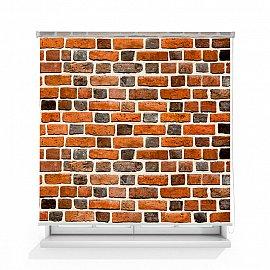 """Рулонная штора ролло термоблэкаут """"Кирпичная стена красная"""", 120 см"""
