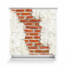 "Рулонная штора ролло лен ""Старая стена"", 120 см"