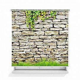 "Рулонная штора ролло лен ""Каменная стена"", 140 см"