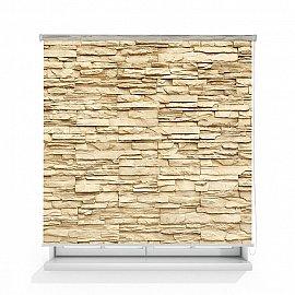 """Рулонная штора ролло лен """"Камень продолговатый"""", 160 см"""