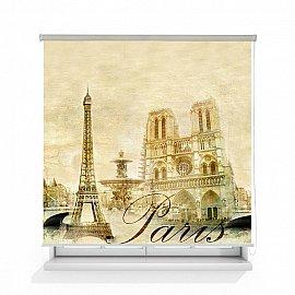 """Рулонная штора ролло лен """"Париж винтаж"""", 160 см"""