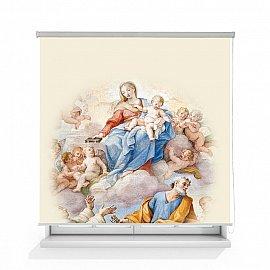 "Рулонная штора ролло лен ""Пресвятая Дева Мария фреска"", 160 см"