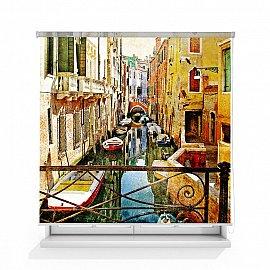 """Рулонная штора ролло термоблэкаут """"Каналы Венеции"""", 120 см"""