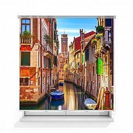 """Рулонная штора ролло лен """"Балконы Венеции"""", 120 см"""