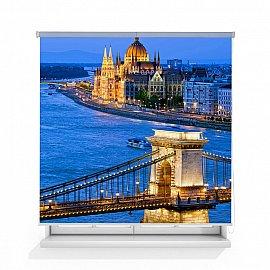 "Рулонная штора ролло лен ""Мост в Будапеште"", 140 см"