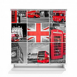 "Рулонная штора ролло лен ""Лондон"", 120 см"