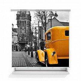 """Рулонная штора ролло лен """"Желтый авто"""", 160 см"""