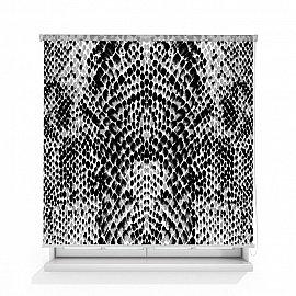 """Рулонная штора ролло лен """"Змеиный принт"""", 160 см"""