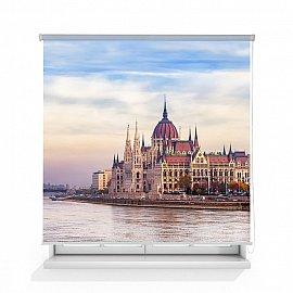 "Рулонная штора ролло лен ""Будапешт"", 160 см"