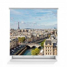 "Рулонная штора ролло термоблэкаут ""Вид на Париж"", 140 см"