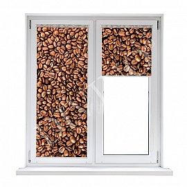 """Рулонная штора термоблэкаут """"Зерна кофе"""", 52 см"""