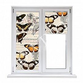 "Рулонная штора термоблэкаут ""Бабочки"", 43 см"