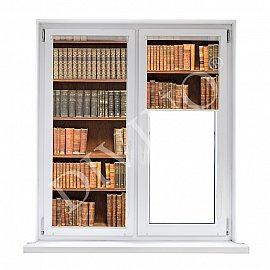 """Рулонная штора лен """"Книжный шкаф"""", 57 см"""