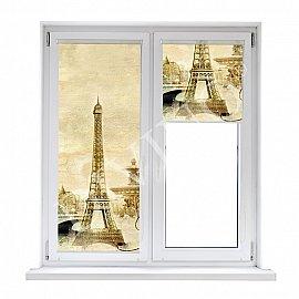 """Рулонная штора лен """"Париж винтаж"""", 62 см"""