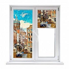 """Рулонная штора термоблэкаут """"Амстердам"""", 68 см"""