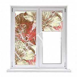 "Рулонная штора термоблэкаут ""Цветы иллюстрация"", 68 см"