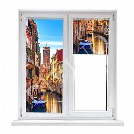 """Рулонная штора лен """"Балконы Венеции"""""""