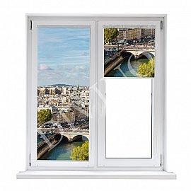 "Рулонная штора термоблэкаут ""Вид на Париж"", 57 см"