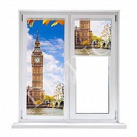 "Рулонная штора термоблэкаут ""Осенний Лондон"", 62 см"