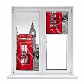 """Рулонная штора лен """"Лондон"""", 43 см"""