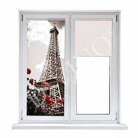 """Рулонная штора лен """"Весна в Париже"""", 57 см"""