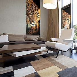 "Рулонная штора ролло лен ""Леопард"", 160 см"