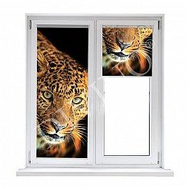 "Рулонная штора лен ""Леопард"", 62 см"