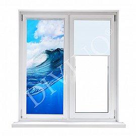 """Рулонная штора термоблэкаут """"Синяя волна"""", 43 см"""