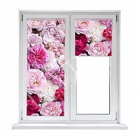 "Рулонная штора лен ""Крупные цветы"", 43 см"