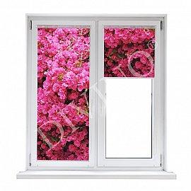 """Рулонная штора термоблэкаут """"Стена цветов"""""""