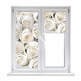 """Рулонная штора термоблэкаут """"Розы белые"""", 43 см"""