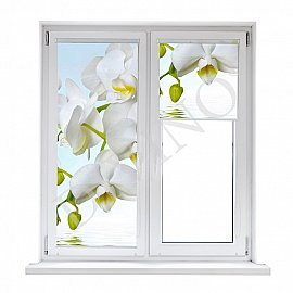 """Рулонная штора термоблэкаут """"Орхидея над водой"""", 62 см"""