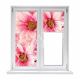 "Рулонная штора лен ""Цветы романтика"", 52 см"