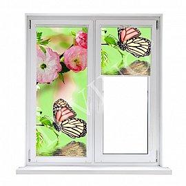 "Рулонная штора лен ""Бабочки"", 57 см"