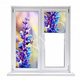 "Рулонная штора лен ""Радужные цветы"", 52 см"