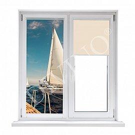 """Рулонная штора лен """"На яхте"""", 48 см"""