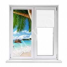 """Рулонная штора лен """"Под пальмами"""""""