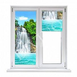 "Рулонная штора лен ""Водопад в лучах солнца"", 52 см"
