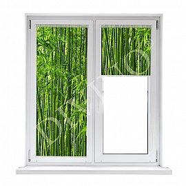 """Рулонная штора лен """"Бамбук"""", 52 см"""