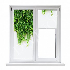 "Рулонная штора лен ""Ветви"", 52 см"