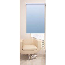 Рулонная штора ролло №250, голубой, 60 см