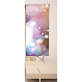Рулонная штора ролло №300, мультиколор, 60 см
