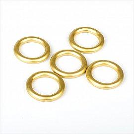 Комплект колец из металлизированной пластмассы для металлического карниза, золото матовое, диаметр 28 мм