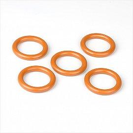 Комплект колец из пластмассы для металлического карниза, вишня, диаметр 28 мм