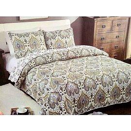 Покрывало Patchwork East Elegance, Белый, Фиолетовый, Фисташковый, 230*250 см
